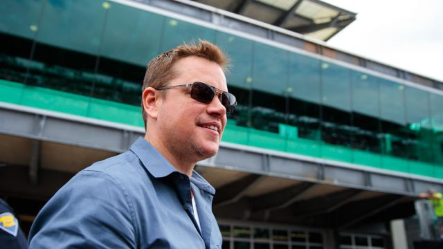 IndyCar: Matt Damon at 103rd Running of the Indianapolis 500