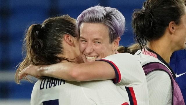 U.S. women's soccer players Megan Rapinoe and Kelley O'Hara