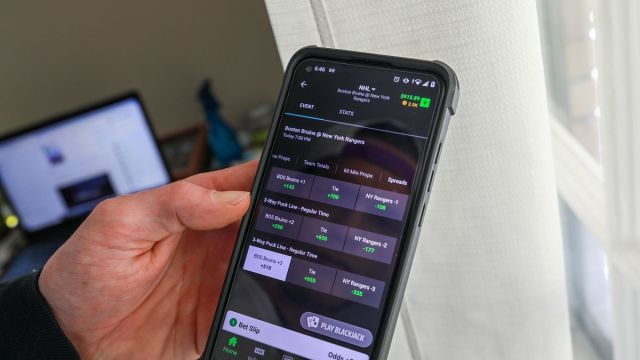 Mobile sports betting account app