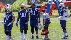 New England Patriots defensive lineman Christian Barmore