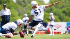 New England Patriots kicker Quinn Nordin