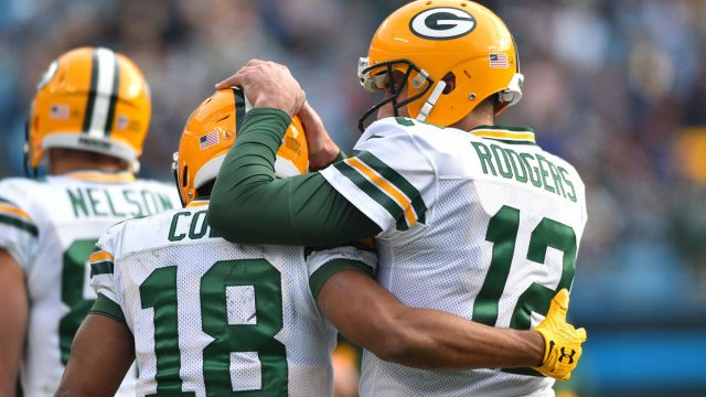 Green Bay Packers receiver Randall Cobb, quarterback Aaron Rodgers