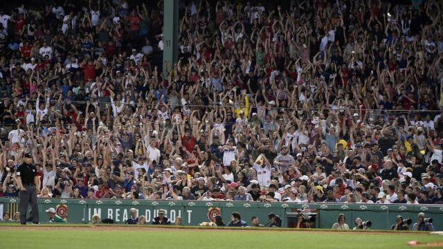 Boston Red Sox fans Fenway Park