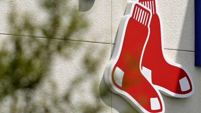 Red Sox logo at JetBlue Park