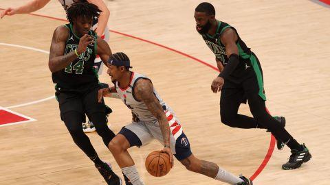 Boston Celtics center Robert Williams III and Washington Wizards guard Bradley Beal