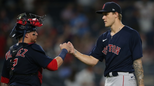 Boston Red Sox Catcher Christian Vázquez And Pitcher Tanner Houck