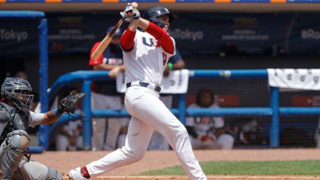 Team USA baseball first baseman Triston Casas
