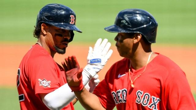 Boston Red Sox Shortstop Xander Bogaerts, Third Baseman Rafael Devers