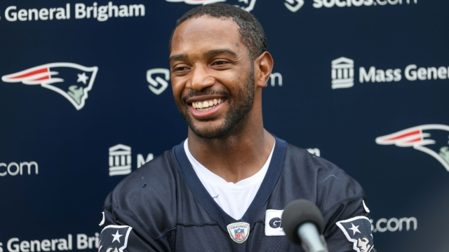 New England Patriots defensive back Adrian Phillips