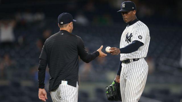 New York Yankees relief pitcher Aroldis Chapman