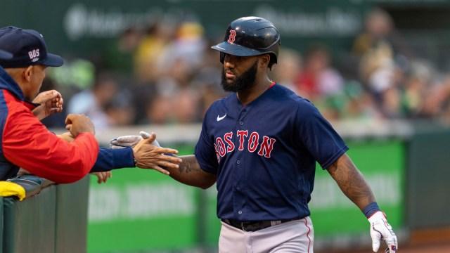 Boston Red Sox first baseman Danny Santana