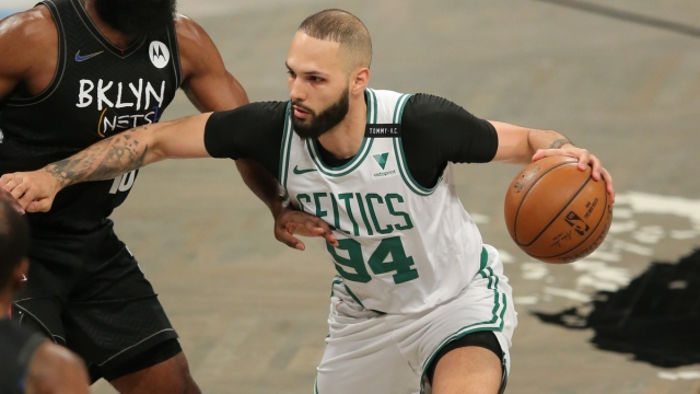 Boston Celtics shooting guard Evan Fournier