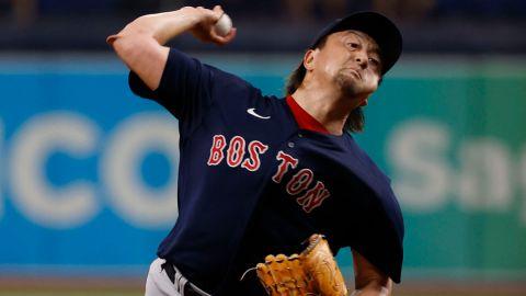 Boston Red Sox pitcher Hirokazu Sawamura