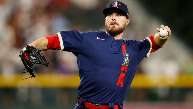 Los Angeles Angels outfielder Jared Walsh