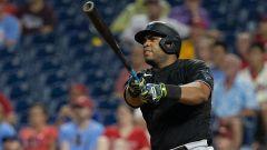 Miami Marlins first baseman Jesus Aguilar
