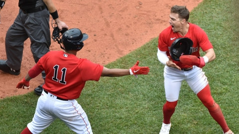 Boston Red Sox Kike Hernandez, Rafael Devers