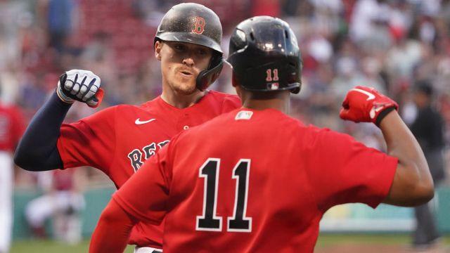 Boston Red Sox player Kike Hernandez