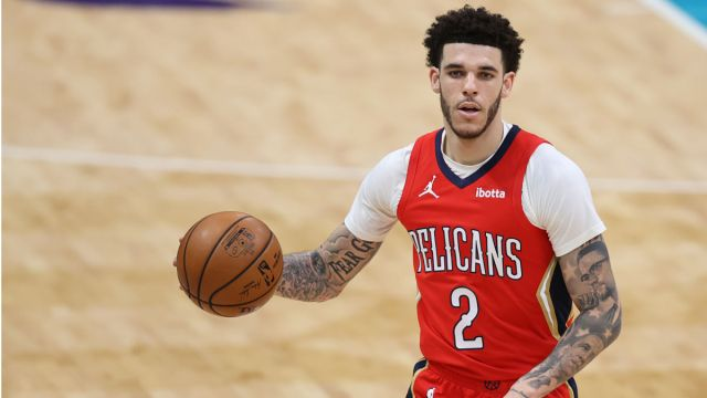 New Orleans Pelicans guard Lonzo Ball