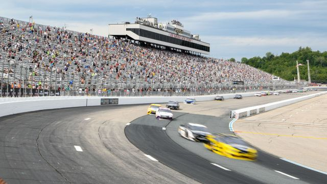 NASCAR drivers at New Hampshire Motor Speedway