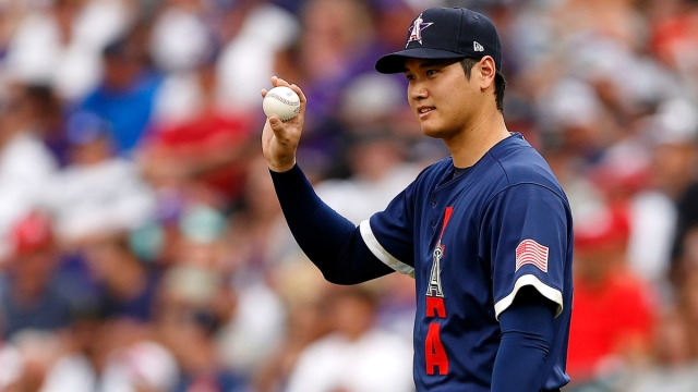 Los Angeles Angels Designated Hitter And Pitcher Shohei Ohtani
