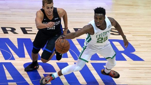 Boston Celtics wing Aaron Nesmith, Orlando Magic's DJ Hogg