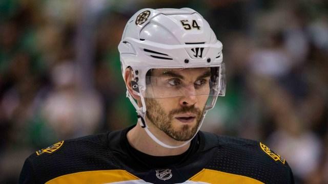 Boston Bruins player development coordinator Adam McQuaid
