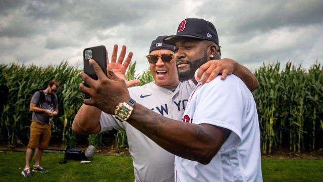 New York Yankees legend Alex Rodriguez, Boston Red Sox legend David Ortiz