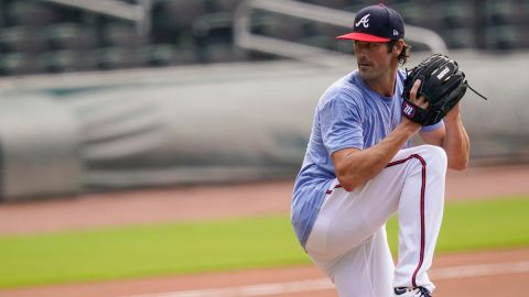Los Angeles Dodgers pitcher Cole Hamels