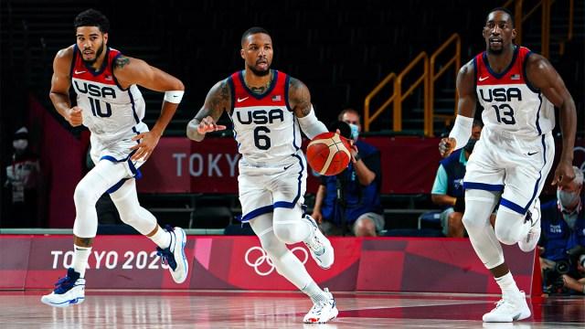 USA men's basketball point guard Damien Lillard