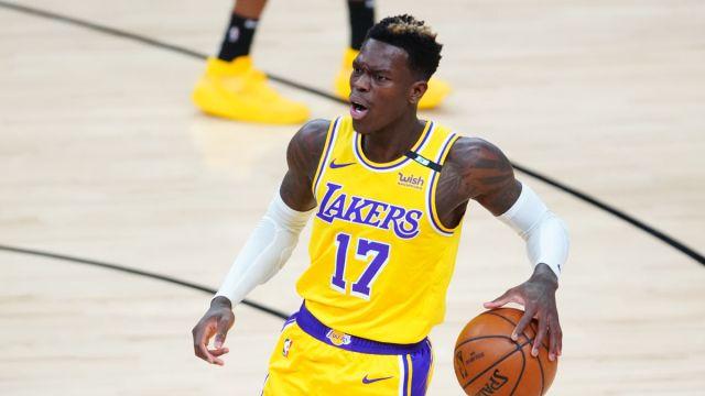 Los Angeles Lakers guard Dennis Schroder