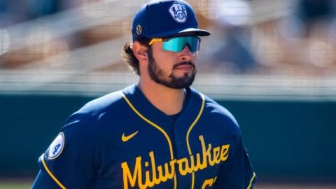 Milwaukee Brewers outfielder Dylan Cozens