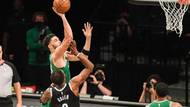 Boston Celtics forward Jayson Tatum, Brooklyn Nets' Jeff Green