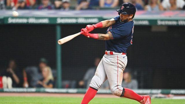 Boston Red Sox infielder Jonathan Araúz