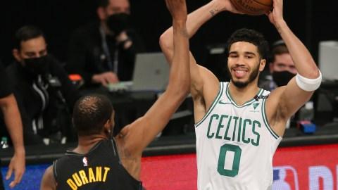 Boston Celtics forward Jayson Tatum, Brooklyn Nets forward Kevin Durant