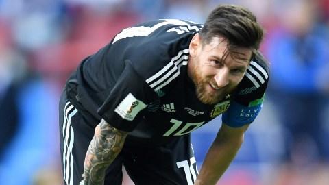 Soccer superstar Lionel Messi