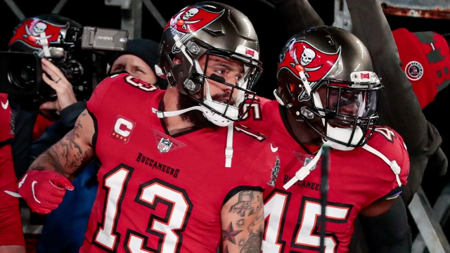 Tampa Bay Buccaneers wide receiver Mike Evans and linebacker Devin White
