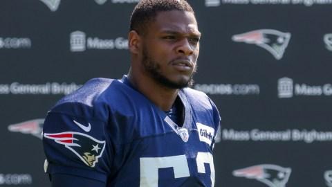 New England Patriots linebacker Ronnie Perkins