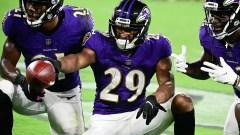 Baltimore Ravens cornerback Shaun Wade