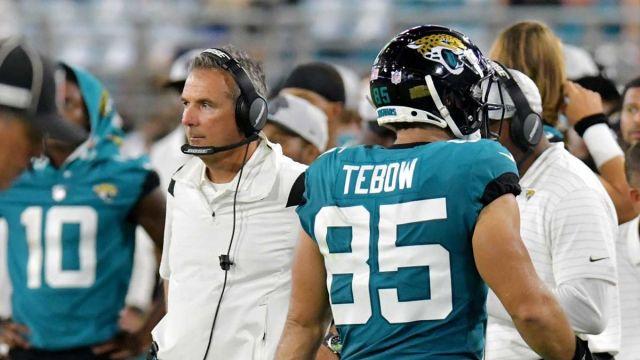 Jacksonville Jaguars head coach Urban Meyer, Tim Tebow