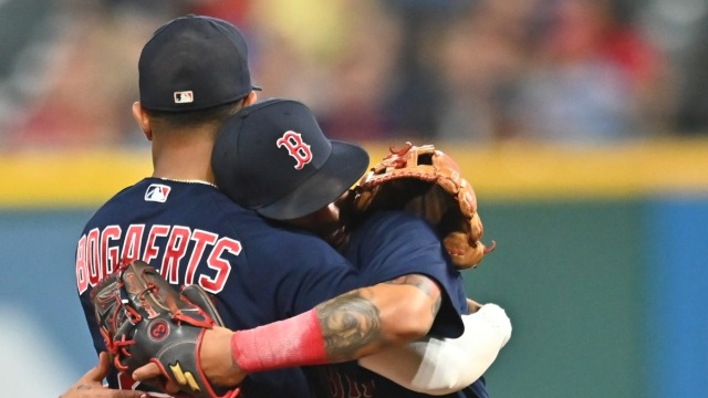 Boston Red Sox Infielders Xander Bogaerts and Jonathan Arauz