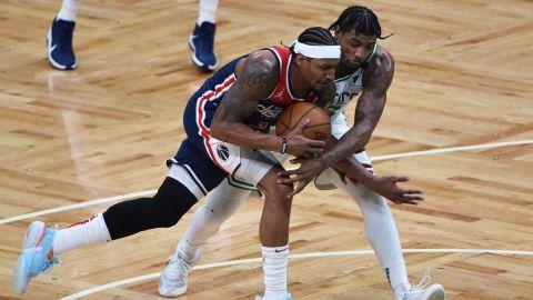 Washington Wizards guard Bradley Beal, Boston Celtics guard Marcus Smart