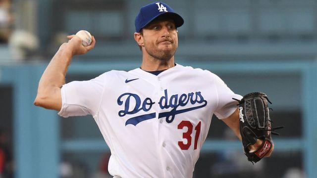 Los Angeles Dodgers pitcher Max Scherzer
