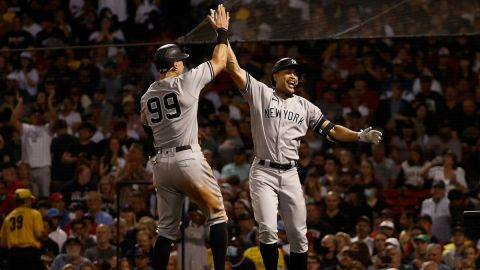 New York Yankees outfielder Aaron Judge and designated hitter Giancarlo Stanton