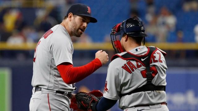 Boston Red Sox Pitcher Adam Ottavino & Catcher Christian Vazquez
