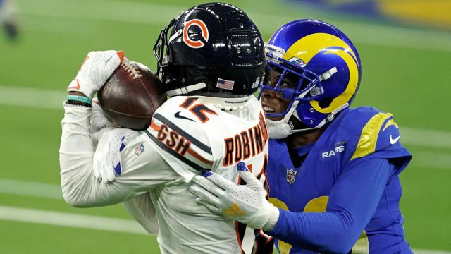 Chicago Bears wide receiver Allen Robinson and Los Angeles Rams cornerback Jalen Ramsey