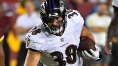 Baltimore Ravens tight end Ben Mason