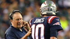 New England Patriots coach Bill Belichick, quarterback Mac Jones
