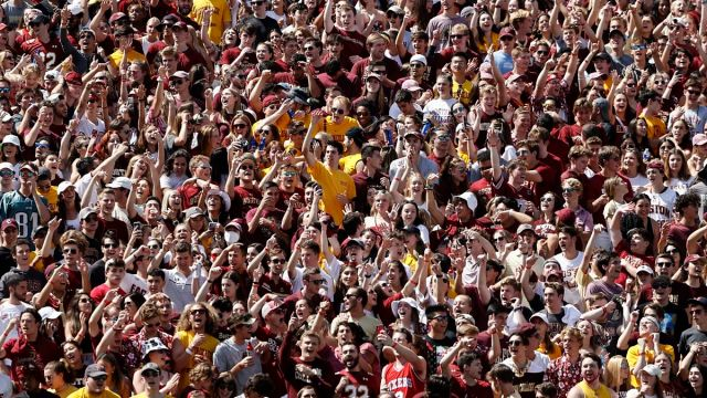 Boston College fans