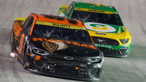 NASCAR Cup Series drivers Chase Elliott and Kevin Harvick