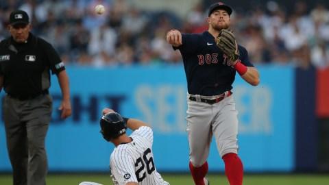 Boston Red Sox infielder Christian Arroyo, New York Yankees' DJ LeMahieu